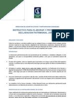 INSTRUCTIVO DE DECLARACIONES PATRIMONIALES