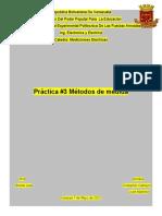 Práctica #3 Métodos de medida