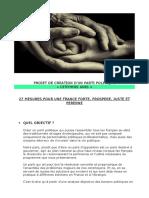 CREATION D'UN PARTI POLITIQUE POUR LA FRANCE - par Nicolas REINHORN