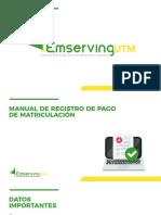 Manual para registrar pago de matriculacion