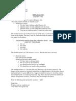 Analysis of evaluation instrument
