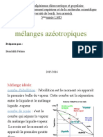 Melange Azeotropique Operation Unitaire