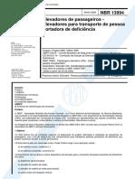 NBR 13994 - Elevadores para deficientes