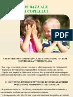 3. Direcţiile de bază ale dezvoltării copilului de vârstă fragedă