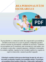 4. Dezvoltarea personalităţii preşcolarului