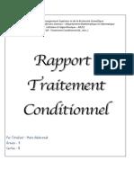 RAPPORT 2 (Traitement Conditionnel (If...else..) )