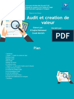 audit et valeur ajoutée