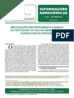 AMOSTRAGEM PARA MAPEAMENTO E MANEJO DA FERTILIDADE DO SOLO NA ABORDAGEM DE AGRICULTURA DE PRECISAO
