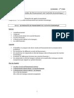 ECONOMIE - PREMIERE STMG - Chap 4-2 Elèves Les modalites de financement de l'activité économiques