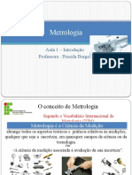 1 ª aula Metrologia - Introdução