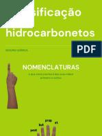 Classificação dos hidrocarbonetos