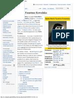 María Faustina Kowalska - Wikipedia, La Enciclopedia Libre