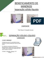 SEPARAÇÃO SÓLIDO_LÍQUIDO Umidade