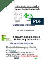 Química Dissociação e Ionização