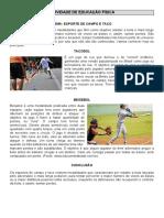 Atividade - Educação Fisica - Campo e Taco