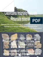 Clasificarea Res Naturale. Resurse Minerale Cl9