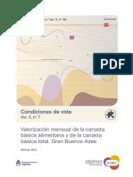 Canasta Básica, abril 2021, Argentina, Indec.
