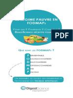 FODMAP Dans Lalimentation