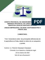 Trabajo Sobre La Problemática Del Agro Cubano.doc