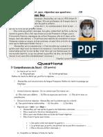 2 Examen. Biographie Comprehension Ecrite Texte Questions