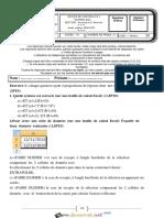 Devoir de Contrôle N°1 - Informatique - Bac Economie & Services (2014-2015) Mr Shili Mohamed