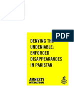 Denying ED in Pakistan By Amnesty International