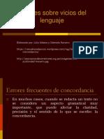 Apuntes vicios del lenguaje