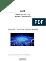 CISC e RISC _ Recursos Computacionais