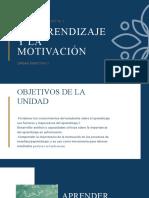 EL APRENDIZAJE Y LA MOTIVACIÓN