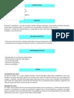Plano de Aula Fisico quimica