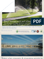 Water management and urban resilience