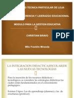 INTEGRACION DIDACTICA DE LA NUEVAS TECNOLOGIAS