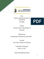 Jose Castillo 2018210061 Tarea#1 Sistemas, Roles Y Metodologías de Desarrollo ADSI