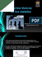 Efectos tóxicos de los metales