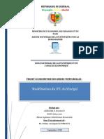 Modelisation de l'IPC au Senegal