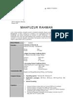 MAHFUZUR RAHMAN CV