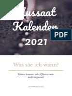 Aussaatkalender 2021 Wurzelwerk