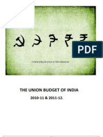 THE UNION BUDGET OF INDIA.