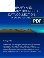 PRIMARY AND SECONDARY SOURCES OF DATA COLLECTION