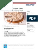Rezepte PDF Dornfelder Kirschkuchen
