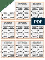 Schede Elettorali VOTO GRUPPI 6 Gruppi