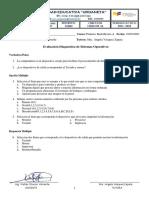 Evaluacion Diagnostica de SO 1RO BT A