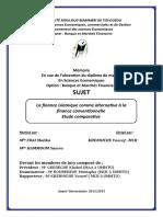 Finance Islamique Et Conventionnelle