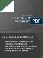 Pensar como geógrafos