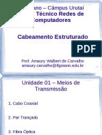 Unidade 01 - 02 - Meios Físicos de Transmissão