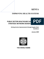 GOOD-Kenya improving the health systems - public sector healthcare supply chain strategic network design for KEMSA