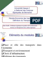 Economie des transports S3