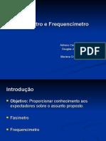 Fasímetro e Frequencímetro