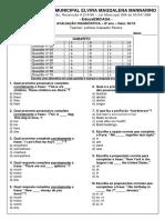 8º ano - Avaliação Diagnóstica Inglês - 30-10