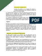 SISTEMAS DE INFORMACION GERENCIAL Y ADMINISTRATIVOS